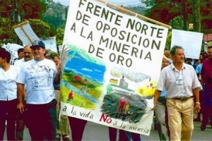 Aug. 17.mineria crucitas.activists las XXX against Canadian mine